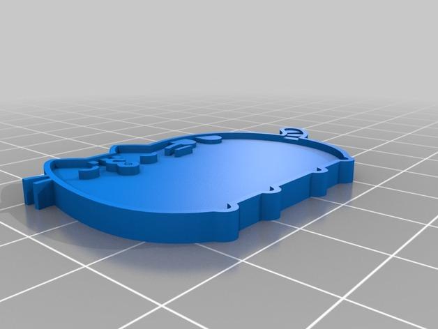 大懒猫pusheen 3D打印模型渲染图