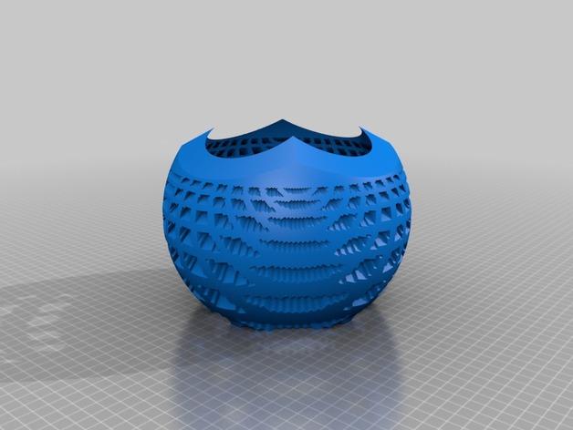 球面投影 蛛网图案