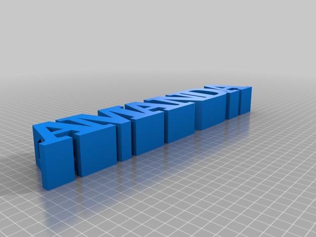 铅笔套 姓名标签 3D打印模型渲染图