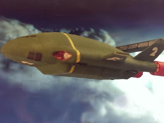 雷鸟飞机模型 3D打印模型渲染图