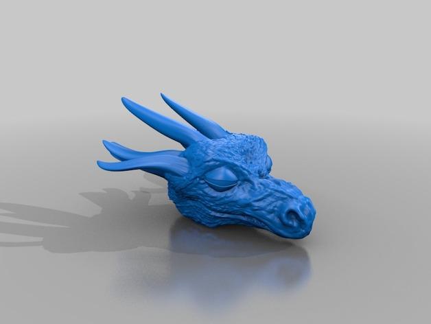 龙头模型 3D打印模型渲染图