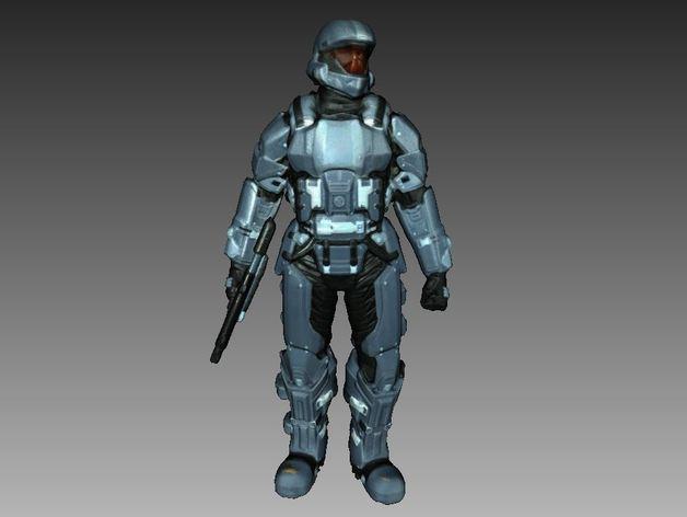 光晕3 士兵模型