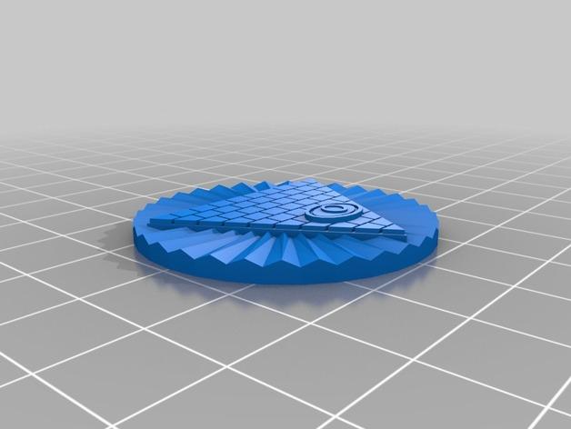 金字塔之眼 标志 3D打印模型渲染图