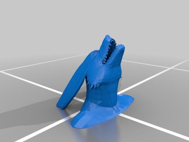 九喇嘛半身像 3D打印模型渲染图