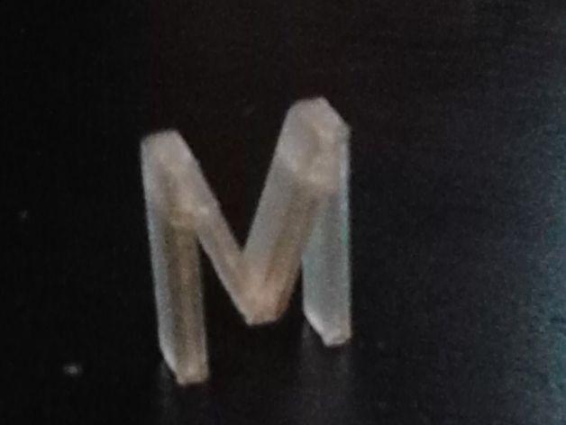 立体字母M