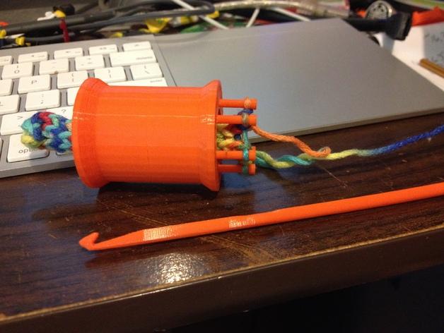编织线轴和编织针 3D打印模型渲染图