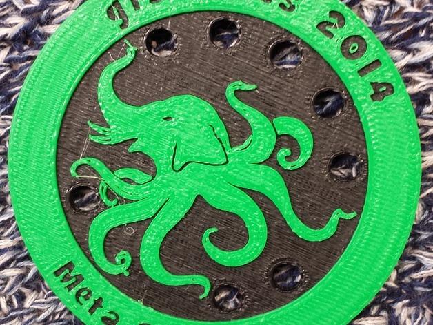大象章鱼标志徽章