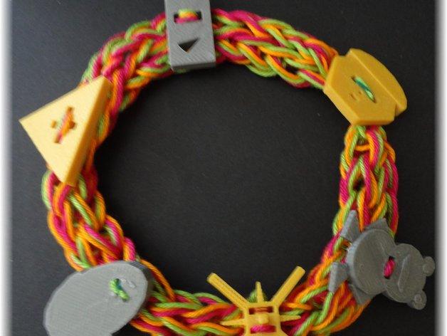 编织器线轴