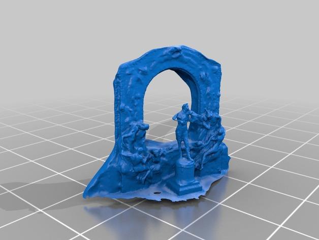 约翰施特劳斯雕像  3D打印模型渲染图