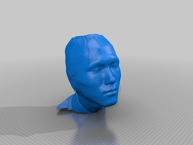 中国人 我的脸 3D打印模型渲染图