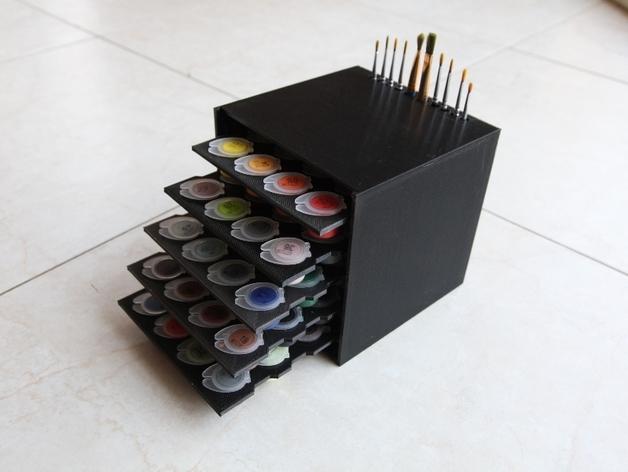 颜料箱 3D打印模型渲染图