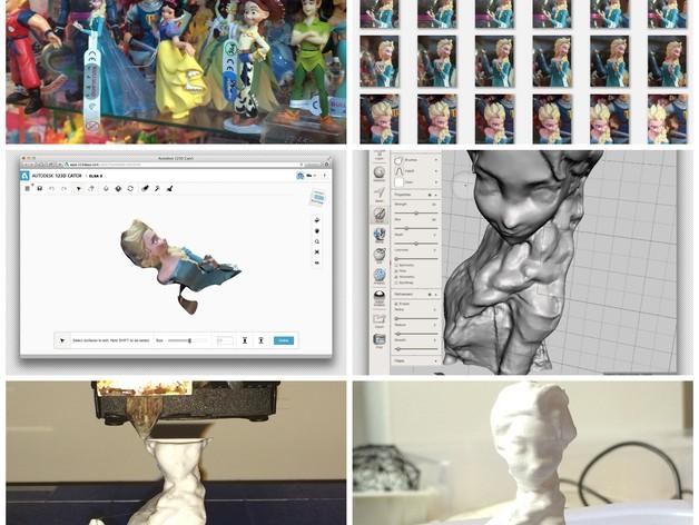 Elsa公主模型 3D打印模型渲染图