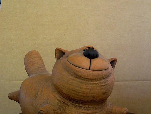 大肥猫 3D打印模型渲染图