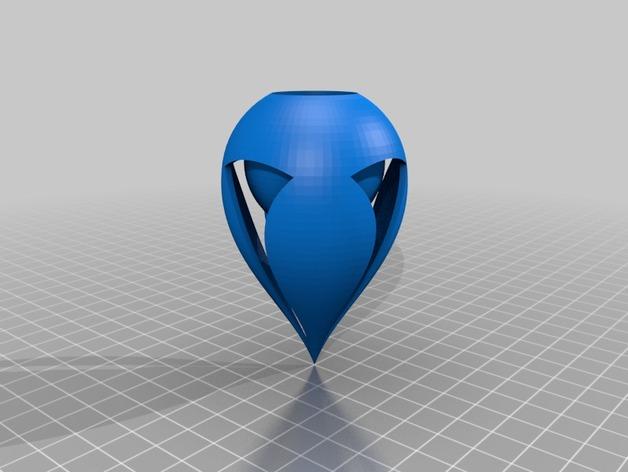 椭圆灯罩 3D打印模型渲染图