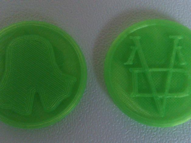 Valar Morghulis硬币  3D打印模型渲染图