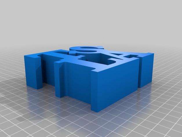 特斯拉字母雕塑 3D打印模型渲染图