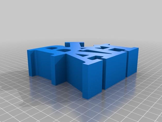 立体字母模型 3D打印模型渲染图