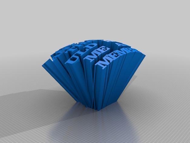 英文字母模型 3D打印模型渲染图