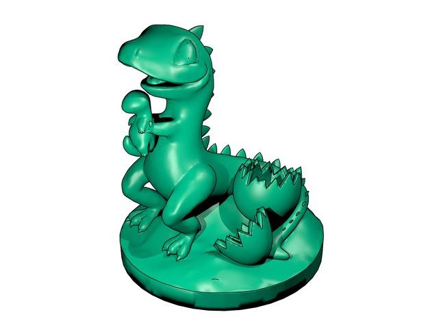 恐龙宝宝 3D打印模型渲染图