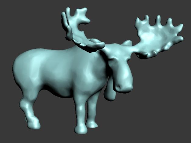 驼鹿 3D打印模型渲染图