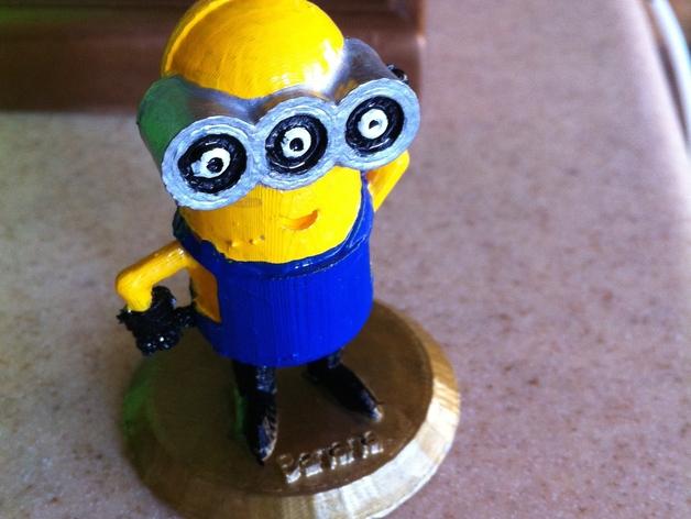 小黄人 3D打印模型渲染图