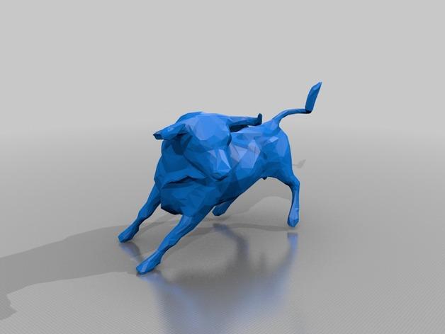 公牛 3D打印模型渲染图