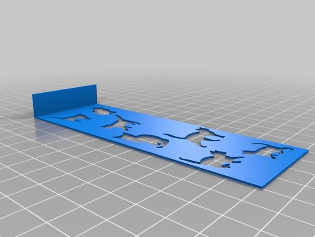 小猫 书签 3D打印模型渲染图