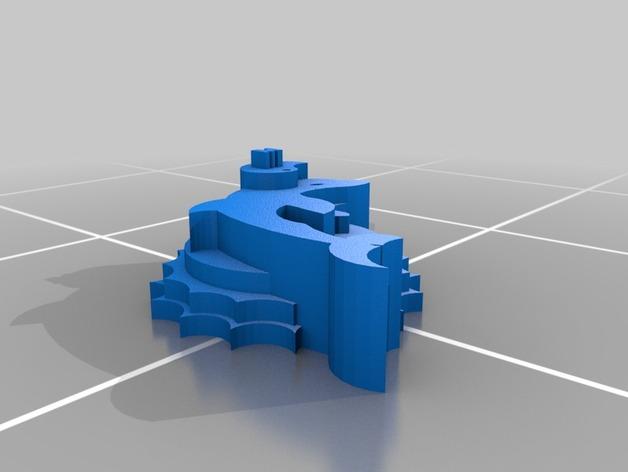 海豚 3D打印模型渲染图