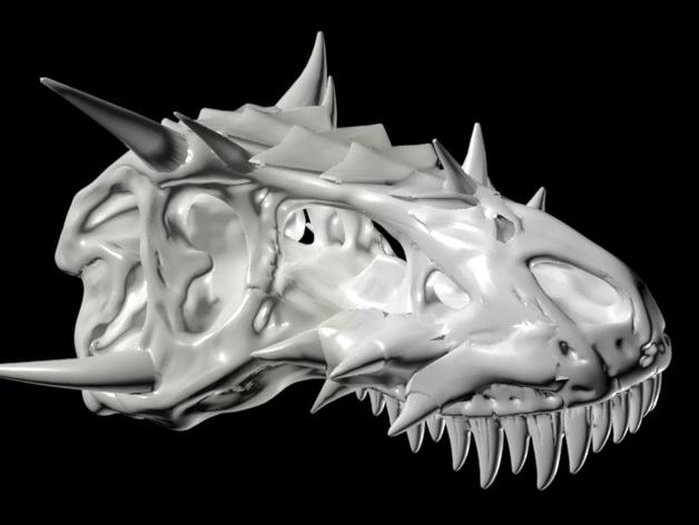 霸王龙 头骨 3D打印模型渲染图