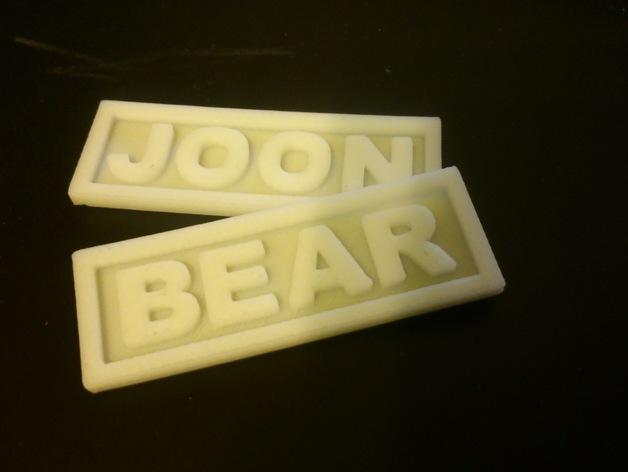 名字标签 3D打印模型渲染图