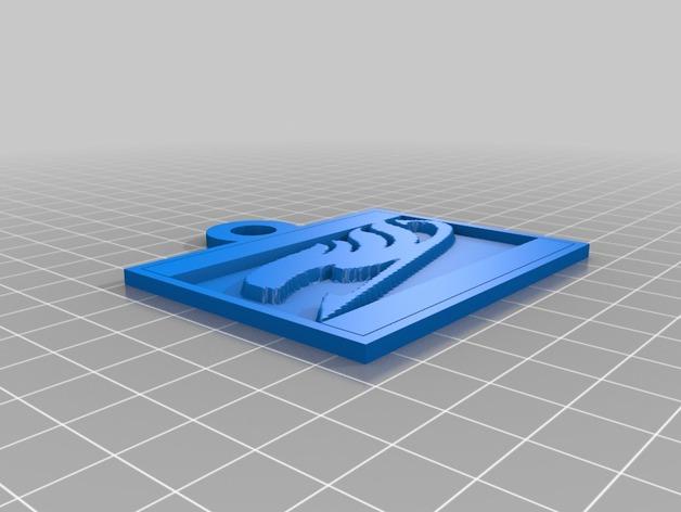 动漫《妖精的尾巴》标志 3D打印模型渲染图
