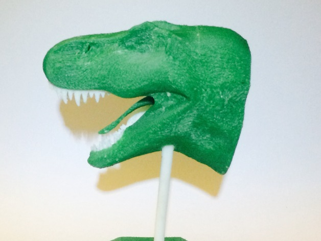 双色恐龙头骨