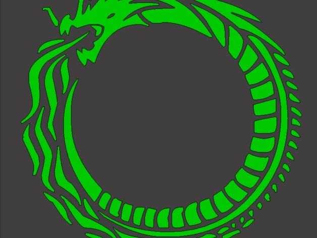 龙形图案4 3D打印模型渲染图