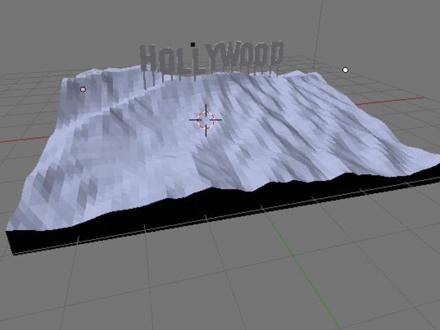 好莱坞山丘地形图