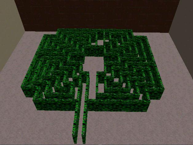 迷宫 3D打印模型渲染图