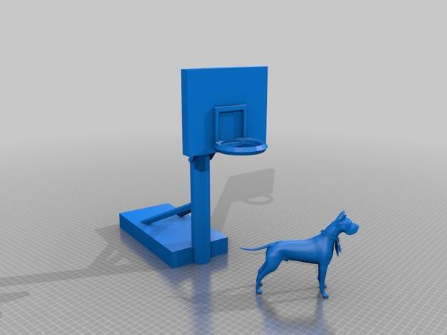 大丹犬 篮球架 标志 3D打印模型渲染图
