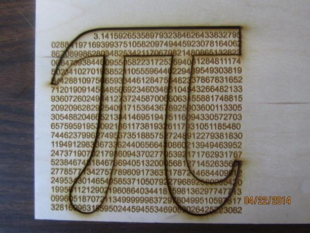 788位激光切割π标识
