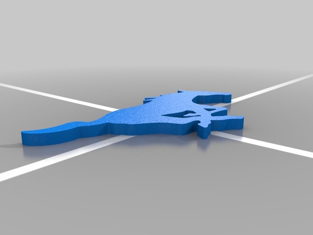 SMU 野马 3D打印模型渲染图