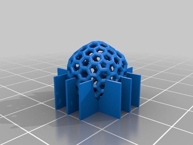 碳240原子球型耳环