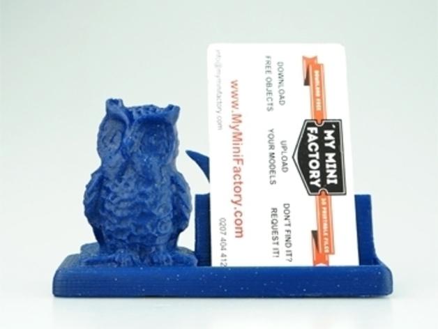 猫头鹰名片盒 3D打印模型渲染图