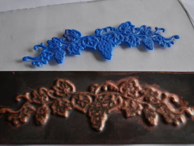 压花模 3D打印模型渲染图