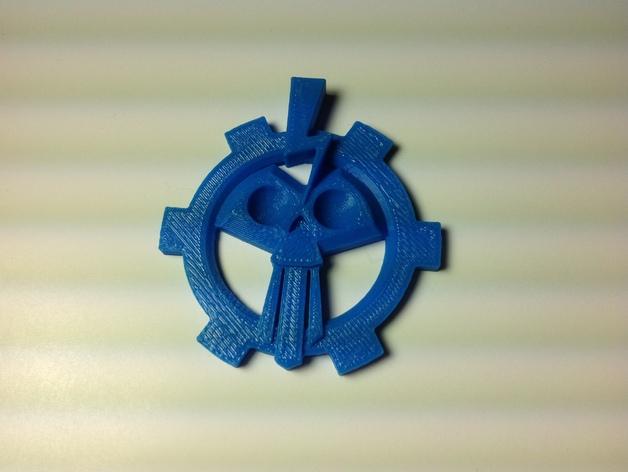 游戏《荒野星球》流放者 标志 3D打印模型渲染图