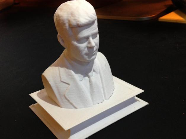 约翰.肯尼迪 3D打印模型渲染图