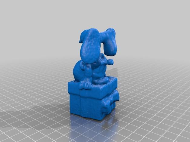 倒立着的蓝精灵 3D打印模型渲染图