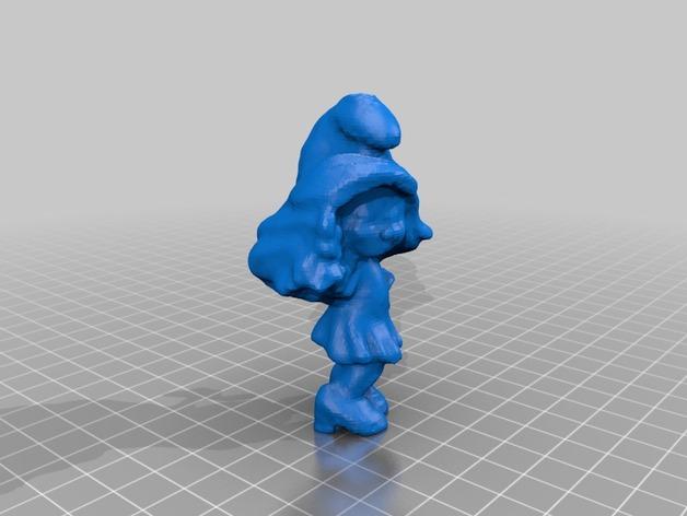 蓝妹妹  3D打印模型渲染图