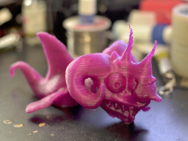 嵌合体 鱼 3D打印模型渲染图