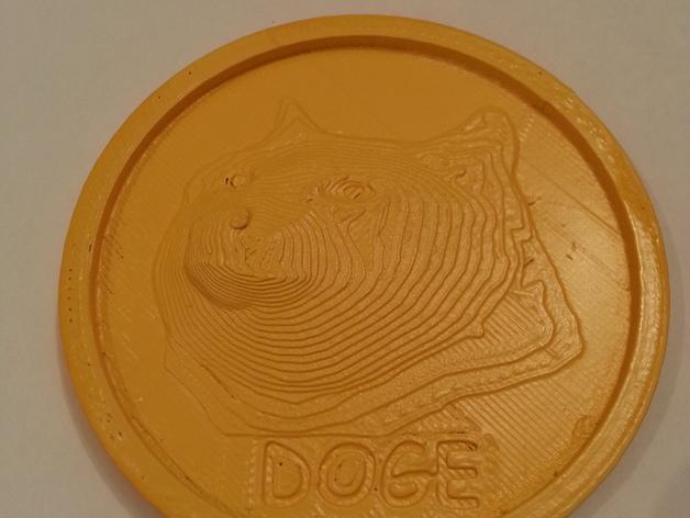 狗狗币  3D打印模型渲染图