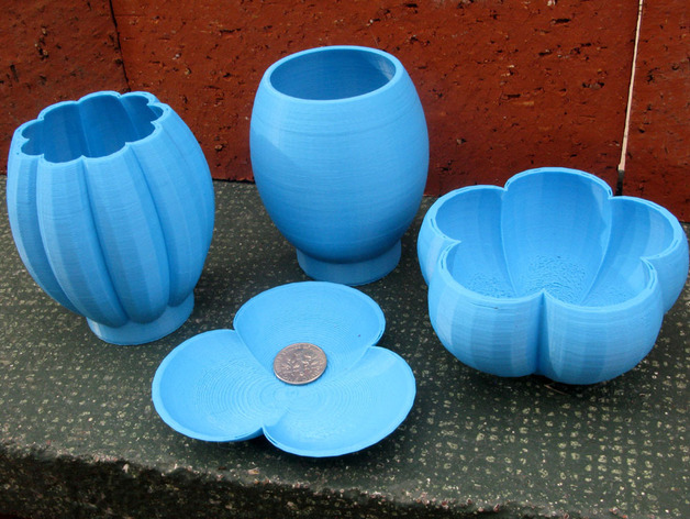 个性化花瓶/花盆 3D打印模型渲染图