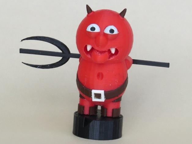 恶魔 玩偶 3D打印模型渲染图
