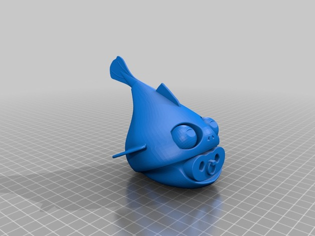 鱼宝宝 玩偶 3D打印模型渲染图